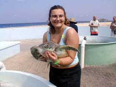 Crystal Holding a Turtle