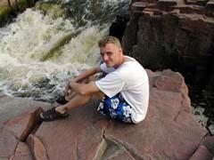Jason at the falls