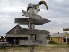 A sign at 1880's town