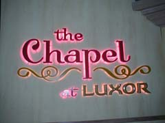 Going to the chapel...