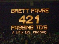 Brett Favre 421 Passing Touchdowns
